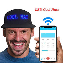 Cargar imagen en el visor de la galería, New Luminous LED Display Multilanguage Wireless Bluetooth Party Baseball Cap Sun Hat