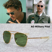 Cargar imagen en el visor de la galería, JackJad New Fashion Army MILITARY AO Pilot 54mm Sunglasses Brand American Optical Glass Lens Sun Glasses Oculos De Sol Masculino