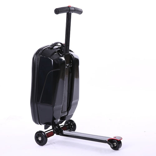 Multifunction travel business boarding luggage black scooter case Trailer micr trike
