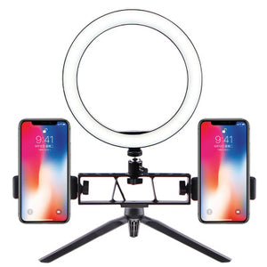 New Mini Desktop Stand Selfie Ring Light Anchor Mobile Live Support Ring Photography LED Beauty Fill Selfie Light селфи кольцо