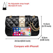 Cargar imagen en el visor de la galería, FOXER Women Chain Strap Messenger Bag Diamond Lattice Flap Lady High Quality Leather Ladies' Shoulder Bags Valentine's Day Gift