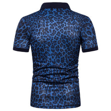 Cargar imagen en el visor de la galería, 2019 Summer Mens Polo Shirt Brands Night Club Leopard Printed Turn Down Collar Short Sleeve Male Polo Homme Tees Tops M-XXXL