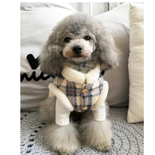 XXS-XXXL Soft Coat Winter Clothing Warm Dog Clothes Coats Overalls For Small Dog Bichon Pug Shih Tzu Puppy Clothes For Dogs 8452