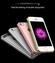 Cargar imagen en el visor de la galería, Cell Phone Case for iPhone 6 iPhone 6S iPhone 7 8 Plus iPhone 5S 5 s SE 5SE X 10 XR XS Max Silver Rose gold Silicone Clear Cover