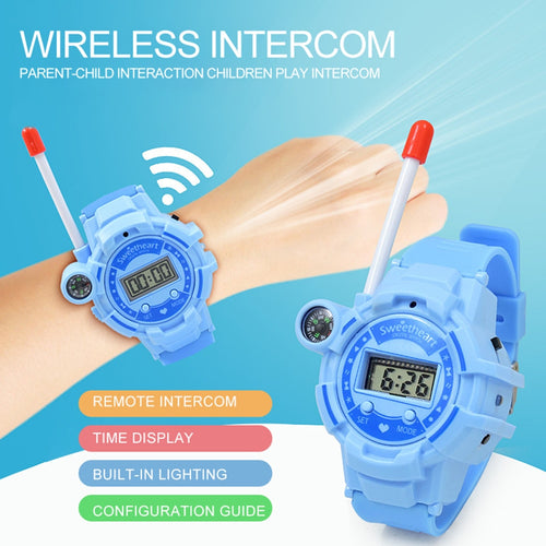 2pcs Watch Wireless Walkie Talkie Toys with USB Cable Long Distance Call Interactive Parents Kids Communication Toys Puzzle Toys