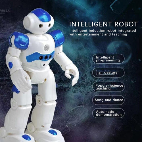 Intelligent RC Robot Multi-function Charging Children's Toy Smart Action Figure Dancing Remote Control Robot For Kids Gift