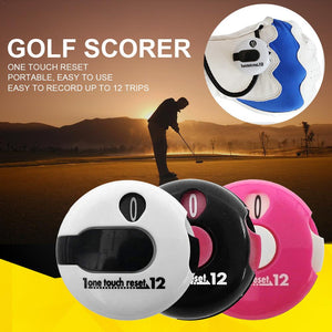 Small Golf Score Counter Indicator Golf Stroke Counter Mini Score Counter Attachment Scorekeeper Golf Counter Golf Training Aids