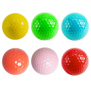 practice golf balls 6 color new ball for golfer gift golf accessories ads standad ball wholesale for Indoor Outdoor Novelty 1pc