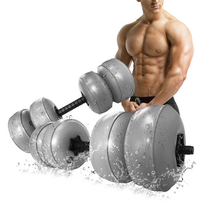 Travel Weights Water Filled Dumbbells Set Adjustable Free Water Dumbbells Exercise Fitness Weightlifting Training