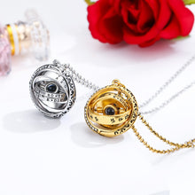 Cargar imagen en el visor de la galería, Openable Astronomical Ball Projection Necklace 100 Language I Love You Pendant Necklace for Women Men Choker Jewelry Gift