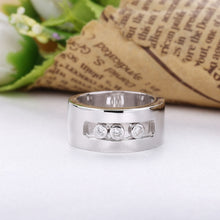 Cargar imagen en el visor de la galería, SHADOWHUNTERS Original 925 Sterling Silver Move Stone Wedding Rings For Men Engagement Sterling Silver Jewelry
