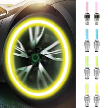 Cargar imagen en el visor de la galería, 2PCS LED Light For Auto Car Wheel Motocycle Bike Tire Valve Cap Decorative Lantern Tire Valve CapFlash Spoke Neon Lamp