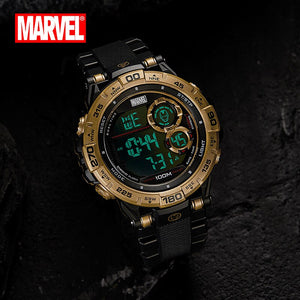 Marvel Brand New Men's Military Watch Fashion Wristwatch 100M Waterproof Sports Watch Iron man Outdoor Swim Diver Clock