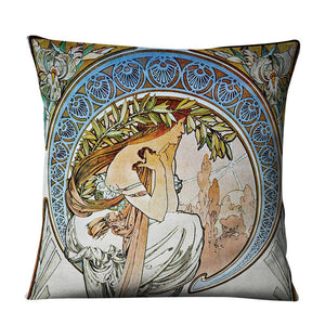 Classical Mucha Gallery Beauty Linen Decorative Throw Green Pillows Case Set Decor Home Cartoon Cushion Covers for Sofa Car