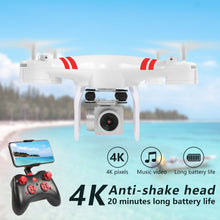 Cargar imagen en el visor de la galería, 2020 New Drone 4k Camera HD Wifi Transmission Fpv Drone air Pressure Fixed Height four-axis Aircraft Rc Helicopter With Camera