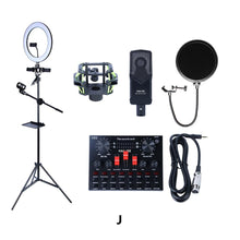 Cargar imagen en el visor de la galería, Multifunctional Live Streaming Equipment Condenser Microphone Sound Recording Live Webcast Device for YouTube