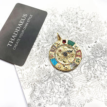 Cargar imagen en el visor de la galería, Pendant Amulet Magical Lucky Symbols,2020 Summer Golden Jewelry Vintage Pure 925 Sterling Silver Powerful Gift For Ts Women Men