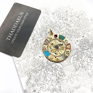 Pendant Amulet Magical Lucky Symbols,2020 Summer Golden Jewelry Vintage Pure 925 Sterling Silver Powerful Gift For Ts Women Men