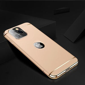 Carcasa integral 3 in 1 chapado oro iPhone 8 7 6 6s Plus 5 5s SE Back Cover Xs Max XR  11 Pro Max