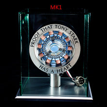 Cargar imagen en el visor de la galería, New Metal Super hero MK1 MK2 Model Toys Chest Lamp 1:1  Arc Reactor Action Figure Remote Light Arc AG800