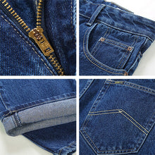 Cargar imagen en el visor de la galería, Men Business Jeans Classic Spring Autumn Male Skinny Straight Stretch Brand Denim Pants Summer Overalls Slim Fit Trousers 2019