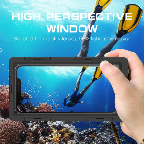 15M Diving Waterproof 360 full Body Protective Phone Case For iPhone 11 12 Pro Max Swimming Diving Water Proof Case For Note 10