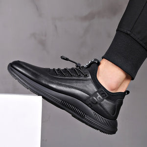 Misalwa Elevator Shoes for Men Casual Cow Leather Sneakers Black Designer Shoes Zapatos Elevadores Lofer Shoes Man Increased