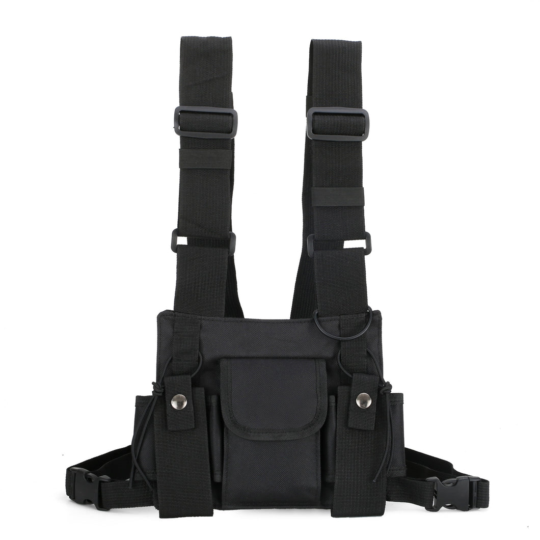 Functional Tactical Chest Bag For Men Fashion Bullet Hip Hop Vest Streetwear Bag Waist Pack Women Black Chest Rig Bag