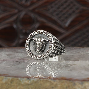 925 Sterling Silver Medusa Ring for Men Mens Accessories Rings All Size