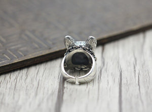 Anillo plata esterlina S925 Bulldog