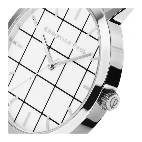 Christian Paul Grid Silver black