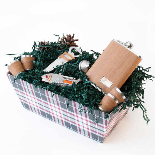 Men Fishing Christmas Basket
