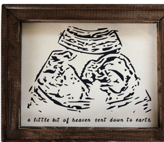 Charcoal Portrait of baby's Ultrasound