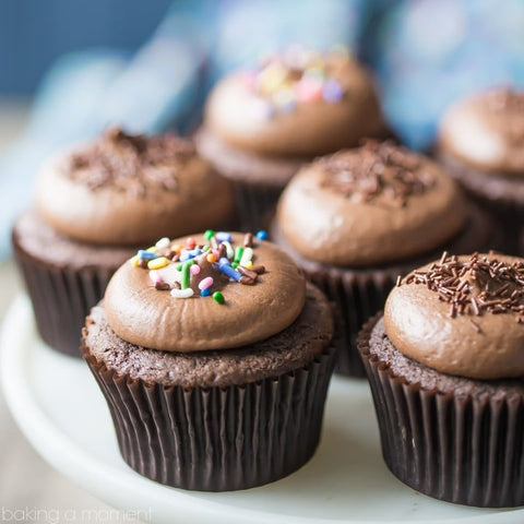 Handcrafted chocolate cupcakes