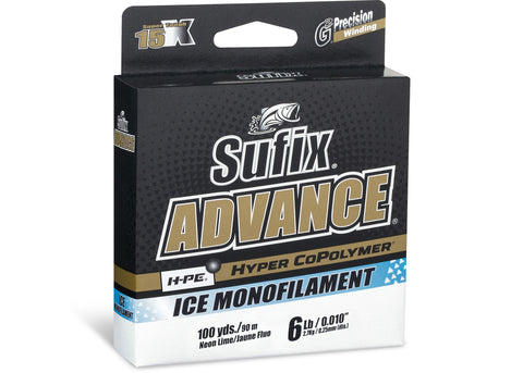 Sufix Advance Ice Monofilament  Line ice fishing lure tackle store ontario canada quebec bass pike walleye