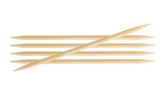 "Bamboo Double Pointed Needles 6"" (15cm)"