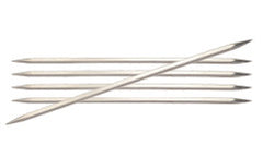 "Nova Cubics Platina 8"" (20cm) Double Pointed Needles"