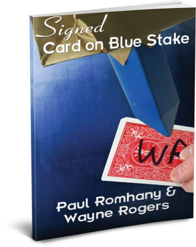 Signed Card on Blue Stake Pro Series 5