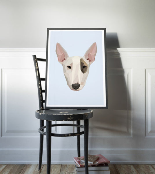 Bull Terrier Geometric Art Print