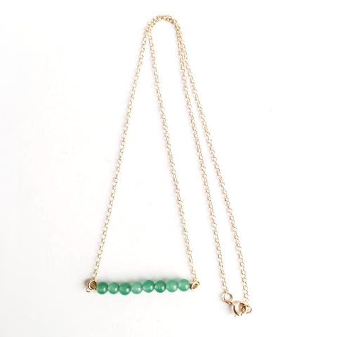 Green Aventurine Gold Filled Necklace