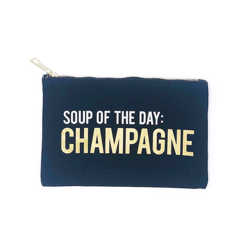 Champagne Lover's Zipper Pouch