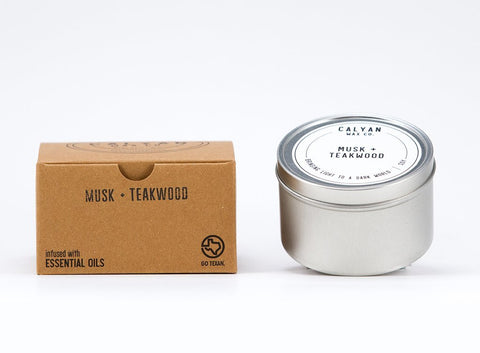 Musk & Teakwood Candle Tin