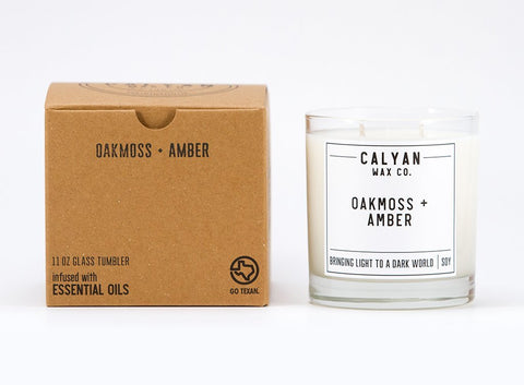 Oakmoss + Amber Candle