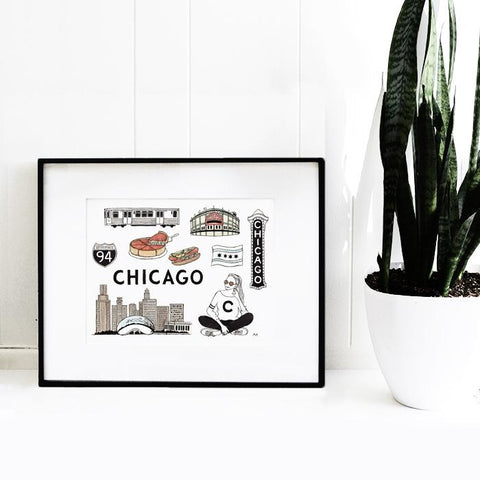 Scenes From Chicago Art Print