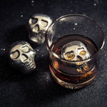 Stainless Steel Skull Whiskey Ice Cube