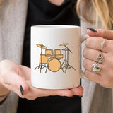 Illustrated Drum Set Mug