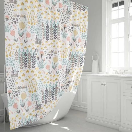 Floral Print Shower Curtain