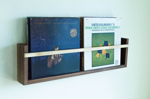 Modern Magazine & Vinyl Record Wall Mount Display