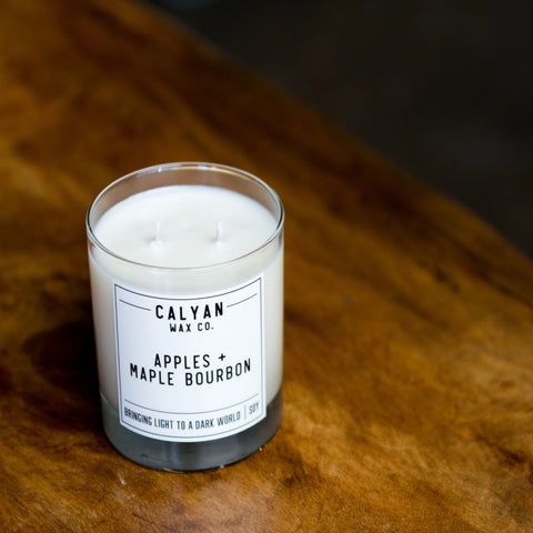 Apples and Maple Bourbon Candle Calyan