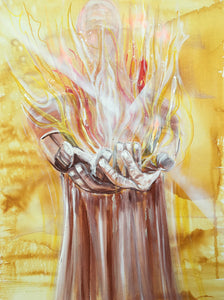 He will baptise you with fire. Limited edition fine art print.